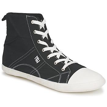 Schuhe Damen Sneaker High Dorotennis MONTANTE LACET INSERT Schwarz