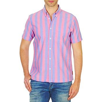 Abbigliamento Uomo Camicie maniche corte Ben Sherman BEMA00487S Rosa / Blu