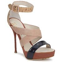 Schuhe Damen Sandalen / Sandaletten John Galliano AN6363 Rose / Marine / Beige