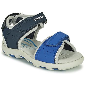 Schuhe Jungen Sandalen / Sandaletten Geox SANDAL PIANETA Blau