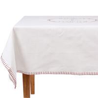 Home Tischdecke Comptoir de famille NAPPE CARRÉE Weiß