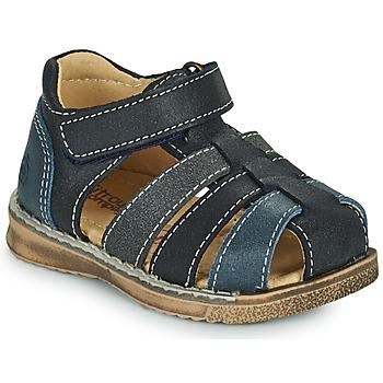 Schuhe Jungen Sandalen / Sandaletten Citrouille et Compagnie FRINOUI Marineblau / Grau