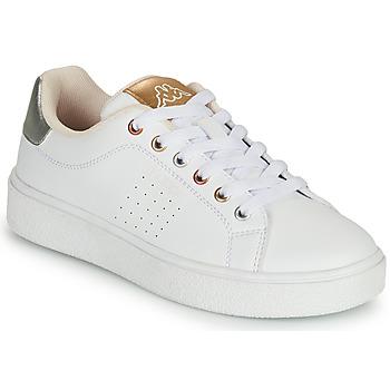 Schuhe Mädchen Sneaker Low Kappa SAN REMO Weiß / Golden / Silbrig