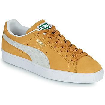 Schuhe Sneaker Low Puma SUEDE Gelb / Weiß