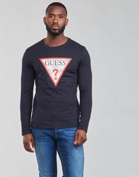 Vêtements Homme T-shirts manches longues Guess CN LS ORIGINAL LOGO TEE