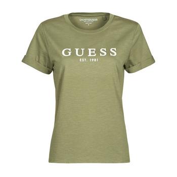 Abbigliamento Donna T-shirt maniche corte Guess ES SS GUESS 1981 ROLL CUFF TEE