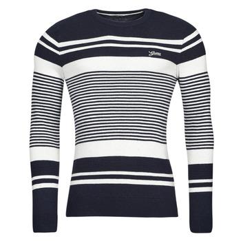 Abbigliamento Uomo Maglioni Guess LONDON EMBOSSED STRIPED CN