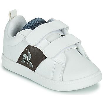 Schuhe Kinder Sneaker Low Le Coq Sportif COURTCLASSIC INF Weiß / Braun,