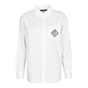 Vêtements Femme Chemises / Chemisiers Lauren Ralph Lauren BRAWLEY-LONG SLEEVE-BUTTON FRONT SHIRT