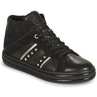 Schuhe Damen Sneaker High Geox LEELU Silbrig