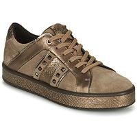 Schuhe Damen Sneaker Low Geox LEELU Braun, / Golden