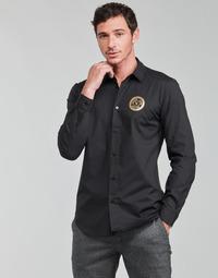 Vêtements Homme Chemises manches longues Versace Jeans Couture SLIM PRINT V EMBLEM GOLD
