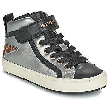 Schuhe Mädchen Sneaker High Geox KALISPERA Silbrig