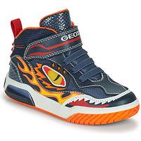 Schuhe Jungen Sneaker High Geox INEK Marineblau / Rot