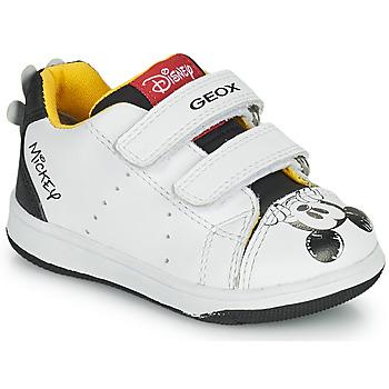 Schuhe Jungen Sneaker Low Geox NEW FLICK Weiß / Rot