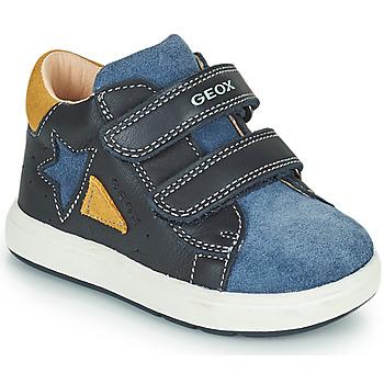 Schuhe Jungen Sneaker Low Geox BIGLIA Marineblau