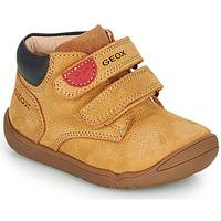 Schuhe Jungen Boots Geox MACCHIA Braun,