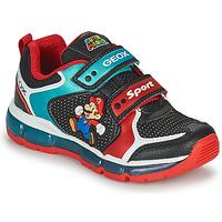 Schuhe Jungen Sneaker Low Geox ANDROID Blau / Rot