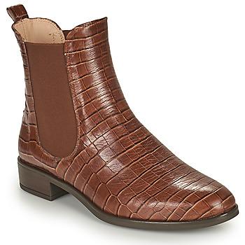 Schuhe Damen Boots Unisa BOYER Kamel
