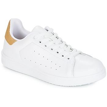 Chaussures Femme Baskets basses Yurban SATURNA Blanc / Doré