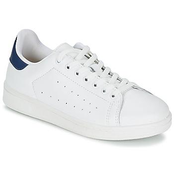 Schuhe Herren Sneaker Low Yurban SATURNA Weiß / Marineblau