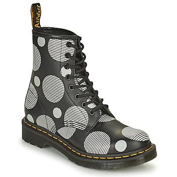 Schuhe Damen Boots Dr Martens 1460 Weiß / Grau