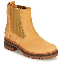 Schuhe Damen Boots Timberland COURMAYEUR VALLEY CHELSEA Gelb