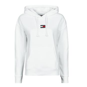 Kleidung Damen Sweatshirts Tommy Jeans TJW TOMMY CENTER BADGE HOODIE Weiß