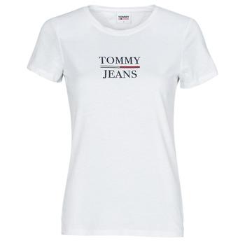 Kleidung Damen T-Shirts Tommy Jeans TJW SKINNY ESSENTIAL TOMMY T SS Weiß