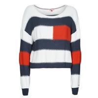 Abbigliamento Donna Maglioni Tommy Jeans TJW  RWB STRIPE SWEATER