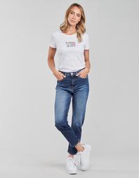 Vêtements Femme Jeans droit Tommy Jeans IZZIE HR SLIM ANKLE AE632 MBC