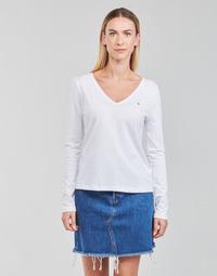 Vêtements Femme T-shirts manches longues Tommy Hilfiger REGULAR CLASSIC V-NK TOP LS