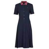 Kleidung Damen Kurze Kleider Tommy Hilfiger PIQUE F&F MIDI POLO DRESS SS Marineblau