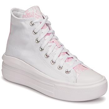 Schuhe Damen Sneaker High Converse CHUCK TAYLOR ALL STAR MOVE HYBRID FLORAL HI Weiß