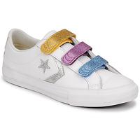 Schuhe Mädchen Sneaker Low Converse STAR PLAYER 3V GLITTER TEXTILE OX Weiß / Bunt