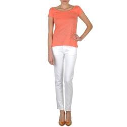 Abbigliamento Donna Jeans slim Calvin Klein Jeans JEAN BLANC BORDURE ARGENTEE Bianco
