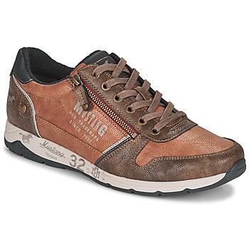 Schuhe Herren Sneaker Low Mustang BRICA Braun,