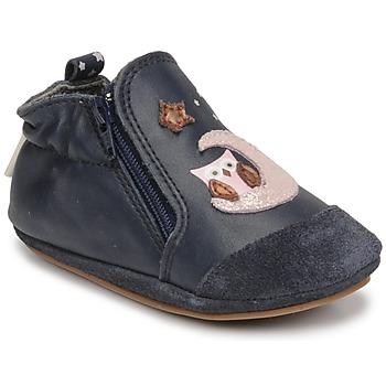 Schuhe Mädchen Babyschuhe Robeez NICE OWL Marineblau