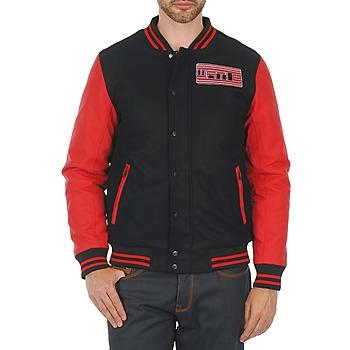 Abbigliamento Uomo Giubbotti Wati B OUTERWEAR JACKET Nero / Rosso