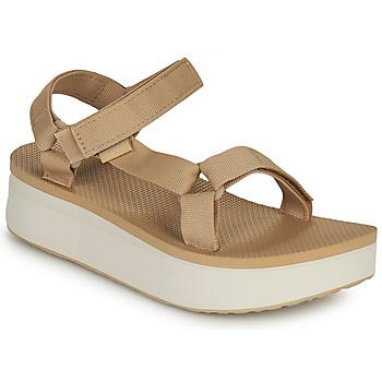 Schuhe Damen Sandalen / Sandaletten Teva Flatform Universal Beige / Weiß