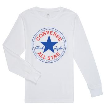 Vêtements Garçon T-shirts manches longues Converse CHUCK PATCH LONG SLEEVE TEE