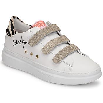Schuhe Damen Sneaker Low Semerdjian BARRY Weiß / Golden