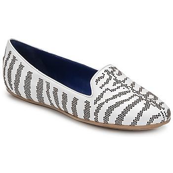 Schuhe Damen Slipper Roberto Cavalli TPS648 Weiss
