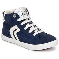 Schuhe Jungen Sneaker High Geox KIWI BOY Marineblau