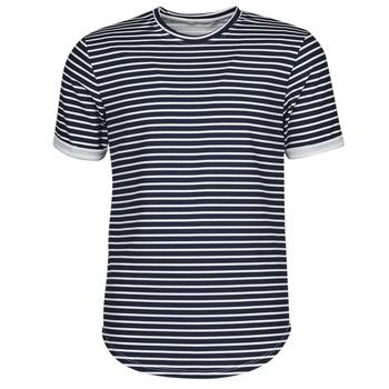 Kleidung Herren T-Shirts Yurban ORICO Marineblau / Weiß