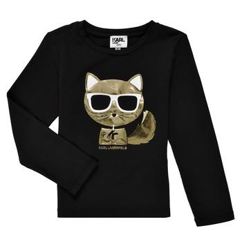 Abbigliamento Bambina T-shirts a maniche lunghe Karl Lagerfeld AMETHYSTE