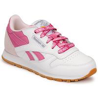 Schuhe Kinder Sneaker Low Reebok Classic CL LTHR Weiß