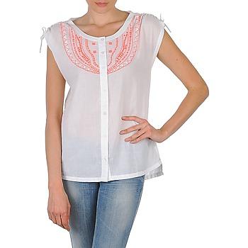 Kleidung Damen Kurzärmelige Hemden Antik Batik AYLA Weiss