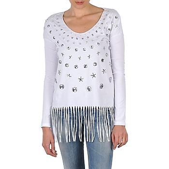 Abbigliamento Donna T-shirts a maniche lunghe Manoush TUNIQUE LIANE Bianco