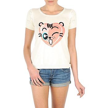 Vêtements Femme T-shirts manches courtes Manoush TEE SHIRT VALENTINE Ecru